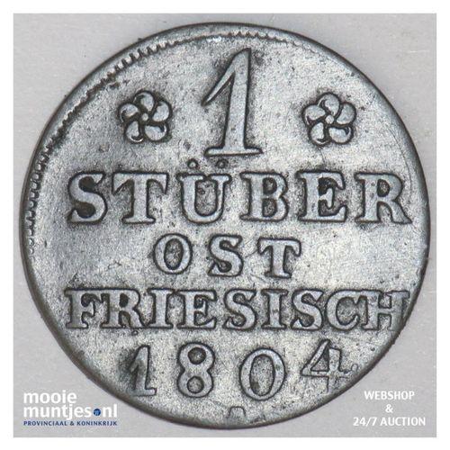 1/4 stuber (2-1/2 witten) - German States/East Friesland 1804 (KM 272) (kant A)