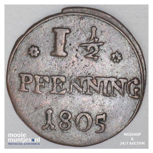 1-1/2 pfennig - German States/Osnabruck 1805 (KM 284) (kant A)