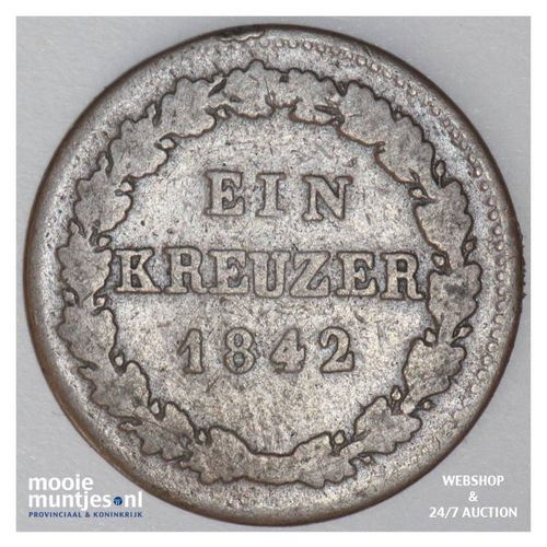 kreuzer - German States/Hohenzollern-Sigmaringen 1842 (KM 21) (kant A)