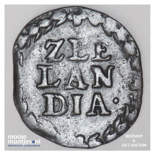 Zeeland - Duit - 1664 (kant B)