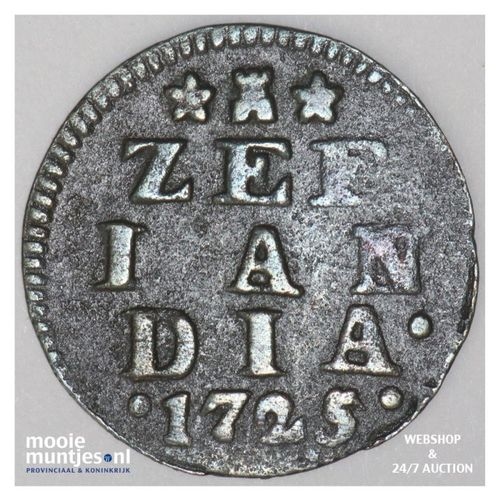 Zeeland - Duit - 1725 (kant A)