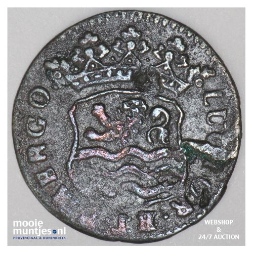 Zeeland - Duit - 1725 (kant B)