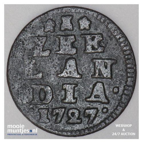 Zeeland - Duit - 1727 (kant A)