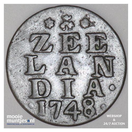 Zeeland - Duit - 1748 (kant A)