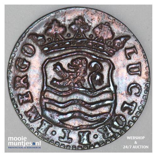 Zeeland - Duit - 1752 (kant B)