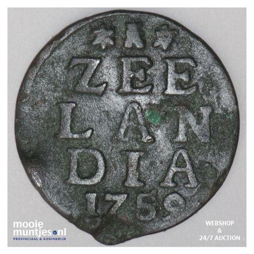 Zeeland - Duit - 1759 (kant A)
