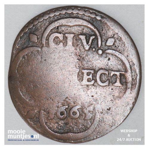 Stad Utrecht - Duit - 1665 (kant A)