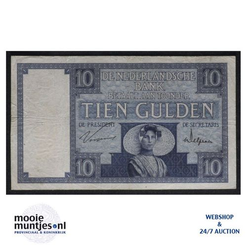 10 gulden  - 1924 (Mev. 39-2a / AV 28) (kant A)