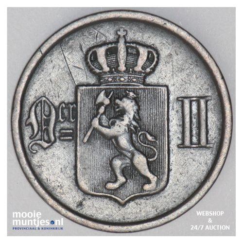 2 ore - Norway 1877 (KM 353) (kant B)