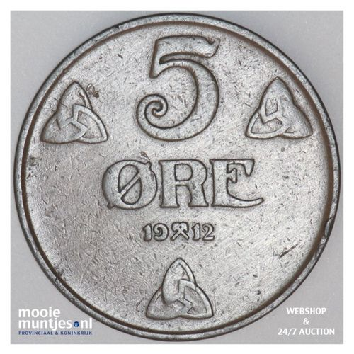 5 ore - Norway 1912 (KM 368) (kant A)