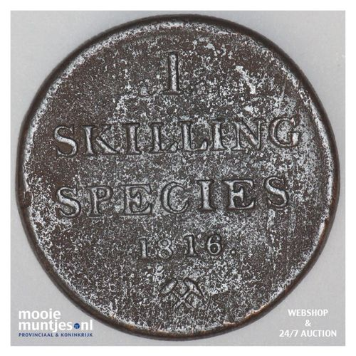 skilling - Norway 1816 (KM 284) (kant A)