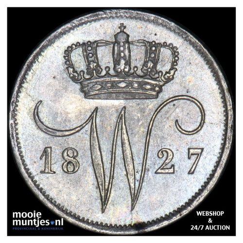 10 cent - Willem I - 1827 Utrecht (kant A)
