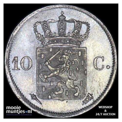10 cent - Willem I - 1827 Utrecht (kant B)