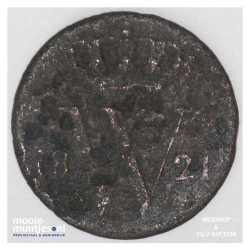 ½ cent - Willem I - 1821 Brussel (kant A)