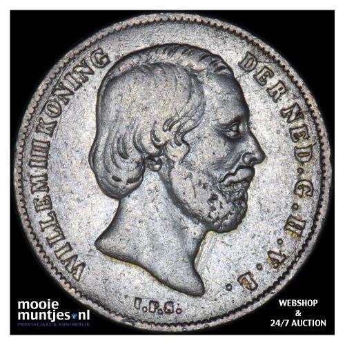 ½ gulden - Willem III - 1860 (kant B)