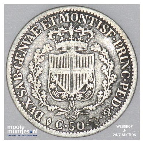 50 centesimi - mainland reform coinage - Italian States/Sardinia 1827 (KM 124.1)