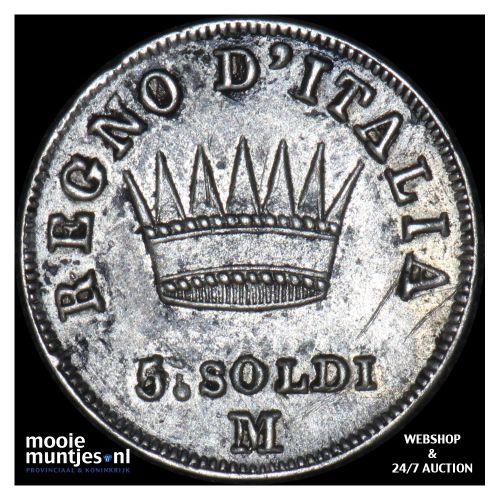 5 soldi - Italian States/Kingdom of Napoleon 1810 (KM C# 5.1) (kant B)