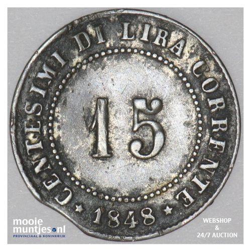 15 centesimi - revolution - Italian States/Venice 1848 (KM 801) (kant A)
