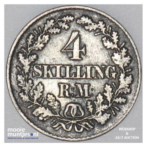 4 skilling rigsmont - Denmark 1856 (KM 758.2) (kant B)