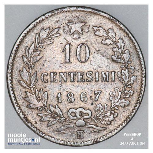 10 centesimi - Italy 1867 (KM 11.3) (kant A)