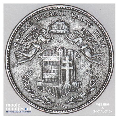 4 krajczar - Hungary 1868 (KM 442) (kant B)