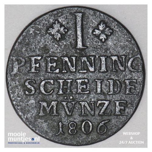 pfennig - German States/Brunswick-Wolfenbuttel 1806 (KM 995) (kant A)