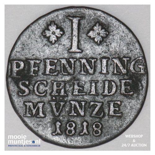 pfennig - German States/Brunswick-Wolfenbuttel 1818 (KM 1076) (kant A)