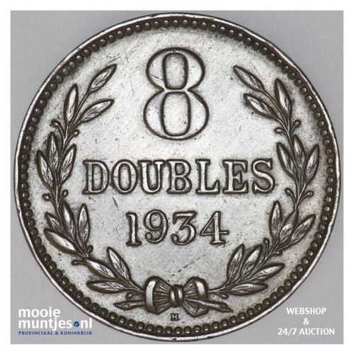8 doubles - Guernsey 1934 (KM 14) (kant A)