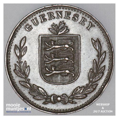 8 doubles - Guernsey 1934 (KM 14) (kant B)