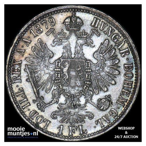 florin - Austria 1879 (KM 2222) (kant A)