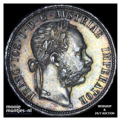 florin - Austria 1879 (KM 2222) (kant B)