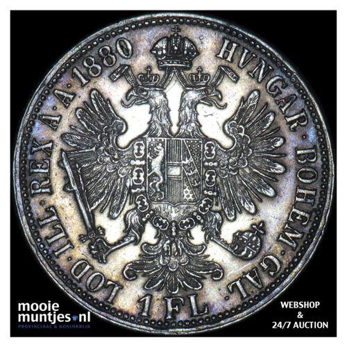 florin - Austria 1880 (KM 2222) (kant A)