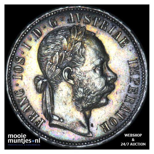 florin - Austria 1880 (KM 2222) (kant B)