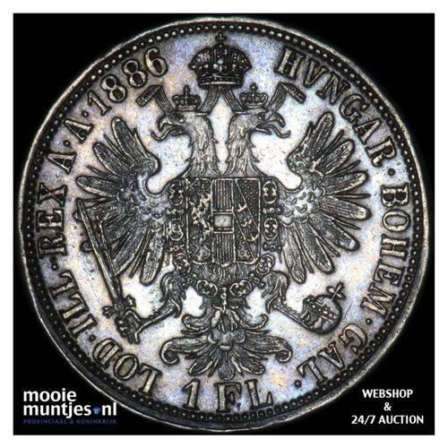 florin - Austria 1886 (KM 2222) (kant A)
