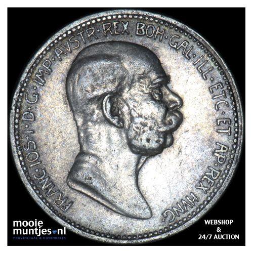 corona - Austria 1908 (KM 2808) (kant B)