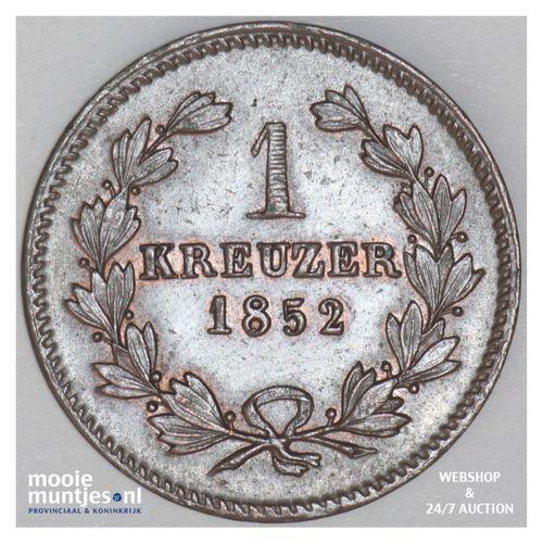 kreuzer - German States/Baden 1852 (KM 218.2) (kant A)