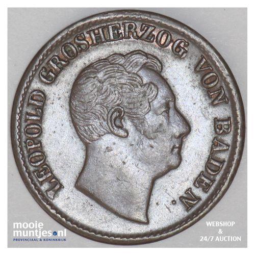kreuzer - German States/Baden 1852 (KM 218.2) (kant B)