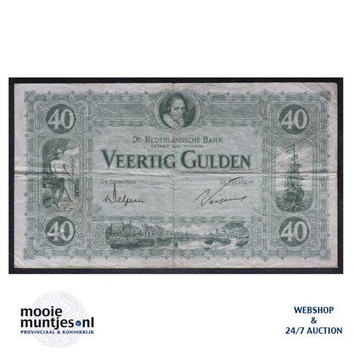 40 gulden - 1921 (Mev. 93-1b / AV 61) (kant A)