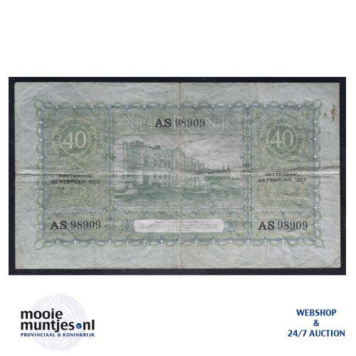 40 gulden - 1921 (Mev. 93-1b / AV 61) (kant B)
