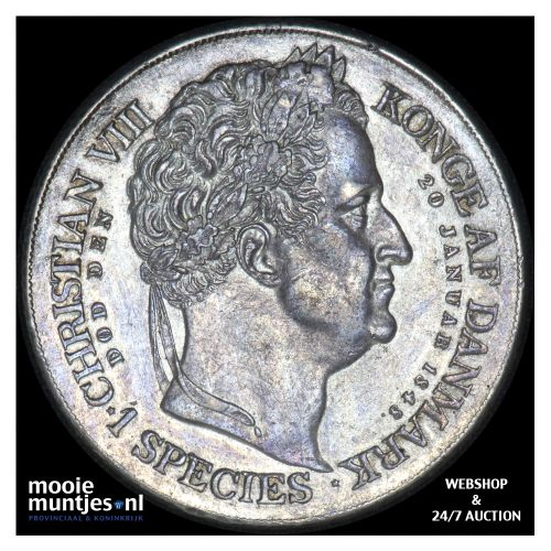 speciedaler - Denmark 1848  (KM 742) (kant B)