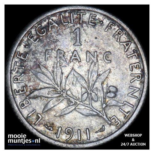 franc - France 1911 (KM 844.1) (kant A)