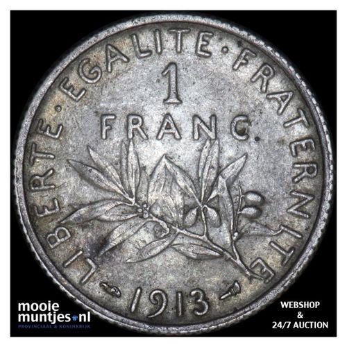 franc - France 1913 (KM 844.1) (kant A)