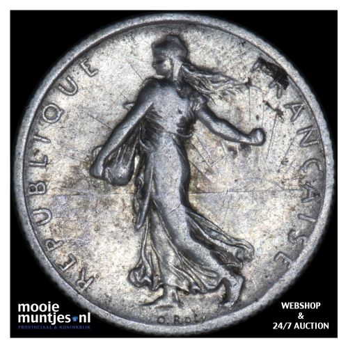 franc - France 1917 (KM 844.1) (kant B)