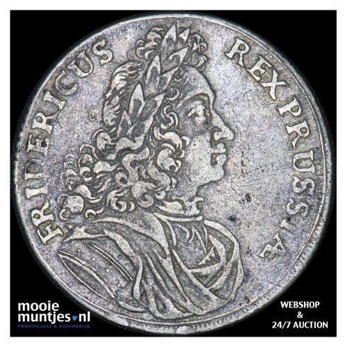 2/3 thaler (gulden) - German States/Prussia 1710 (KM 67) (kant B)
