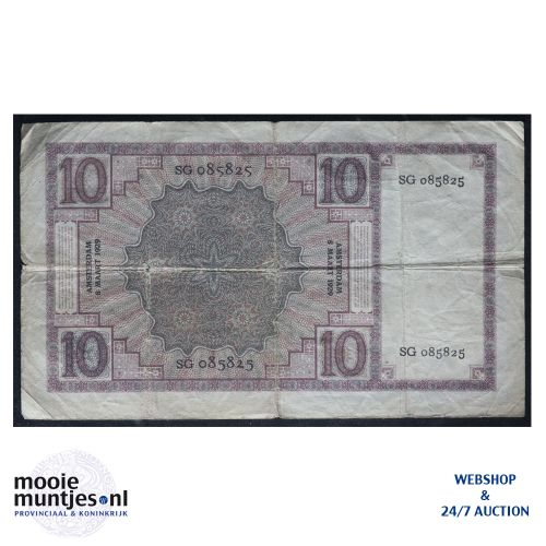 10 gulden  - 1924 (Mev. 39-2b / AV 28) (kant B)