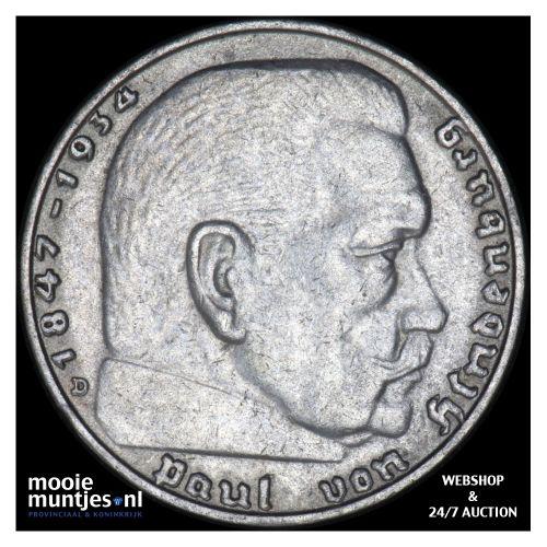 2 reichsmark - Germany-Third Reich 1938 D (KM 93) (kant B)