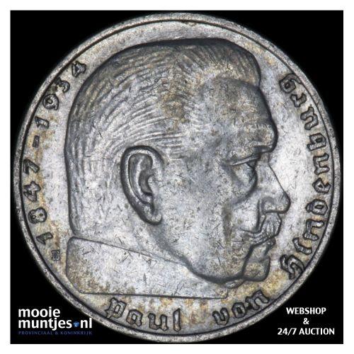 2 reichsmark - Germany-Third Reich 1938 E (KM 93) (kant B)