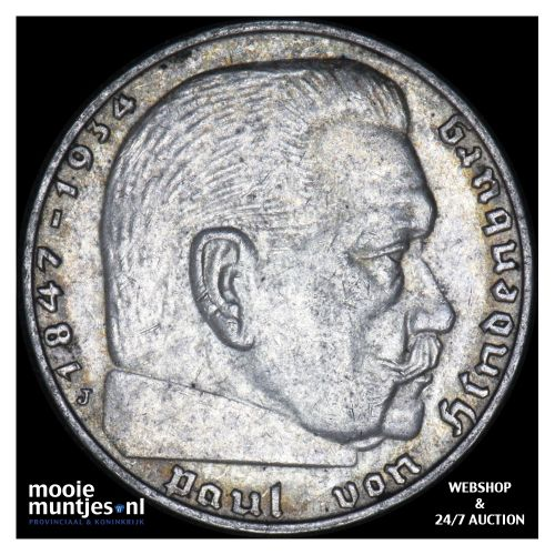 2 reichsmark - Germany-Third Reich 1938 J (KM 93) (kant B)