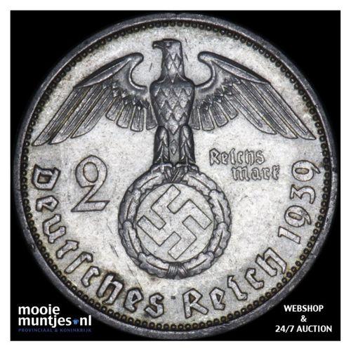 2 reichsmark - Germany-Third Reich 1939 F (KM 93) (kant A)