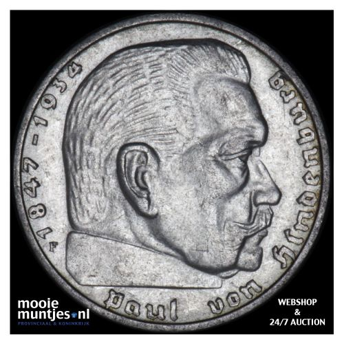2 reichsmark - Germany-Third Reich 1939 F (KM 93) (kant B)